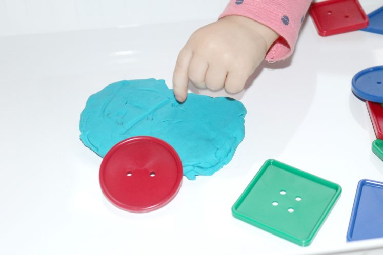 Playdough Buttons Toddler Sensory Tray 4