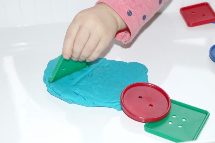 Playdough Buttons Toddler Sensory Tray 5