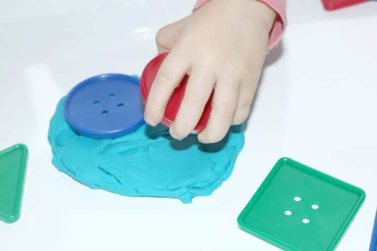 Playdough Buttons Toddler Sensory Tray 6