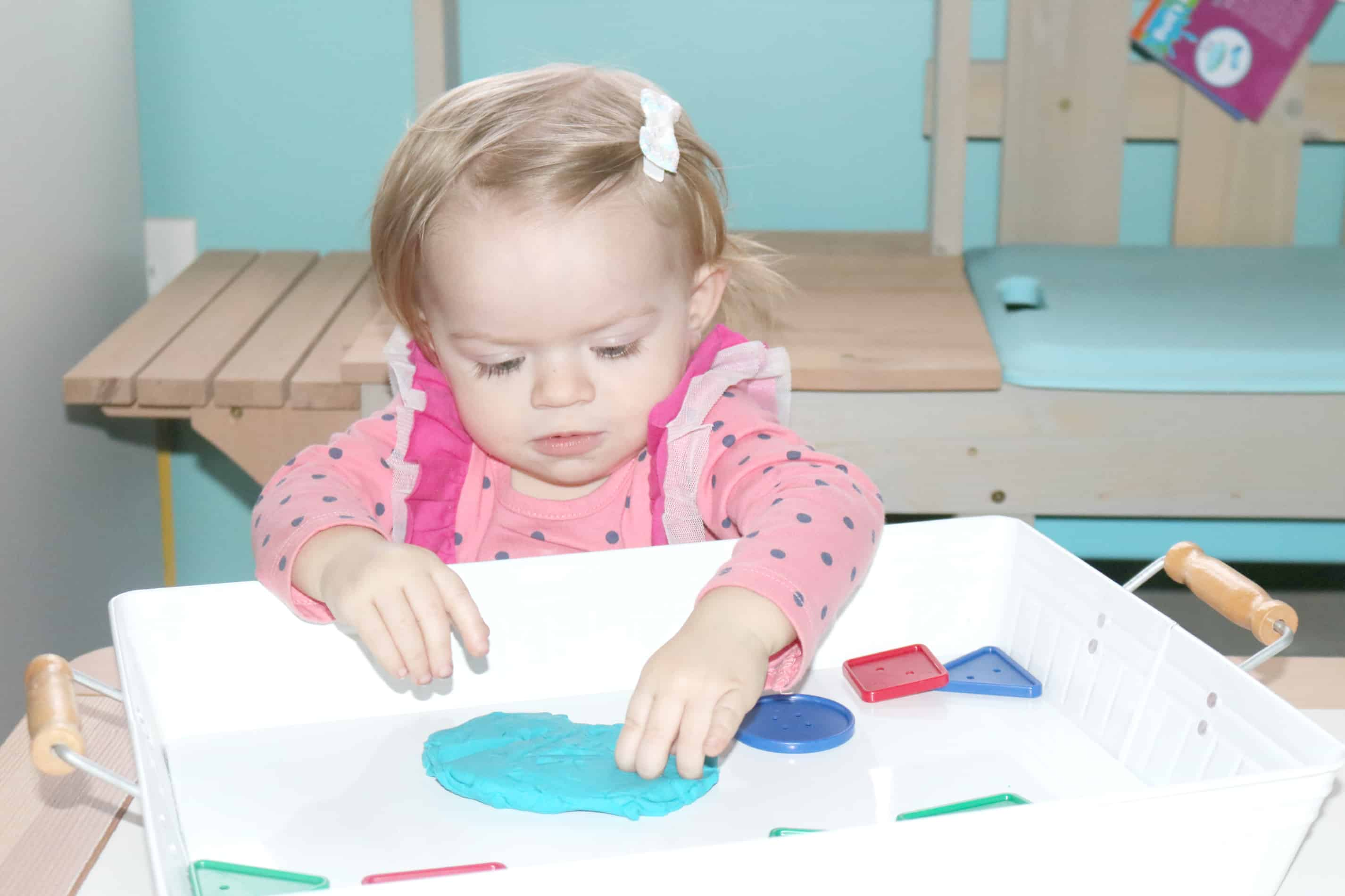 Playdough Buttons Toddler Sensory Tray