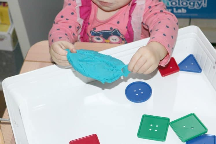 Playdough Buttons Toddler Sensory Tray 8