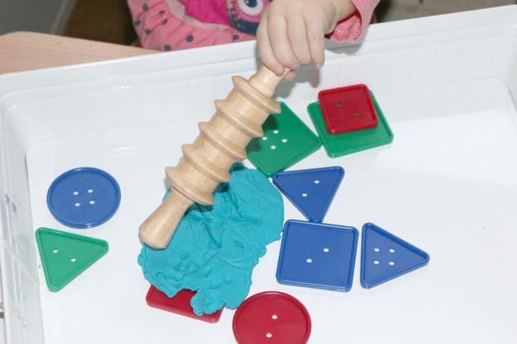 Playdough Buttons Toddler Sensory Tray 9