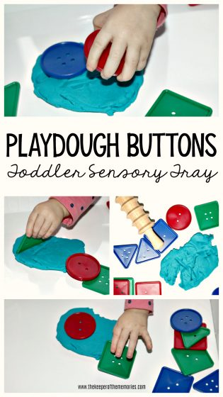 Playdough Buttons Toddler Sensory Activity