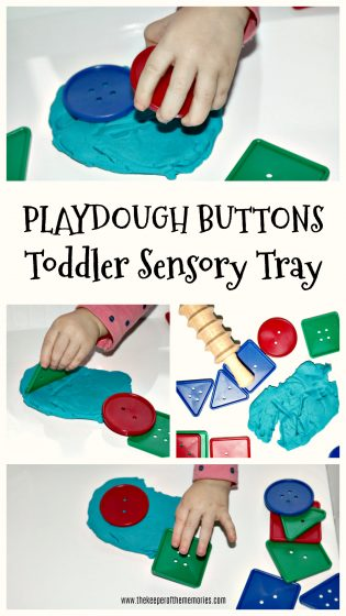 Playdough Buttons Toddler Sensory Tray