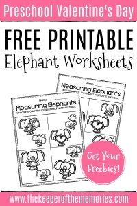 Valentine's Day Elephant Worksheets with text: Preschool Valentine's Day Free Printable Elephant Worksheets Get Your Freebies!