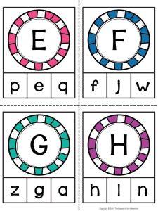 Alphabet Clip Cards E-H