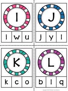 Alphabet Clip Cards I-L