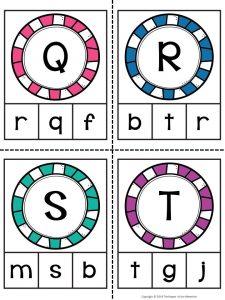 Alphabet Clip Cards Q-T