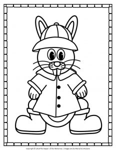 Easter Bunny Coloring Pages Boy