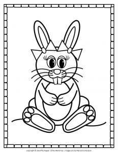 Easter Bunny Coloring Pages Girl