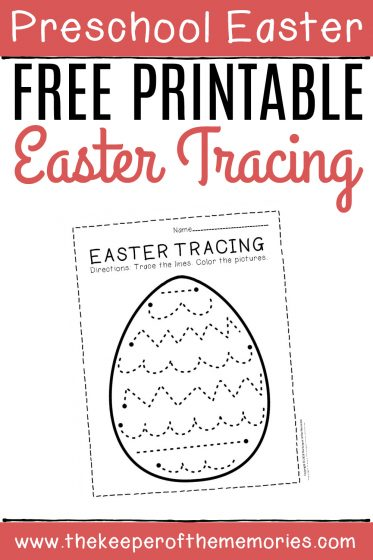 Free Printable Easter Tracing