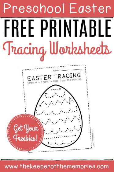 Free Printable Easter Tracing Worksheets