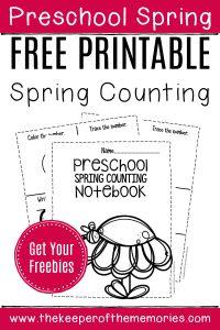 Numbers Spring Preschool Worksheets