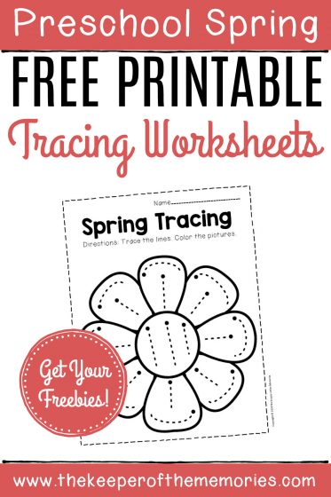 Free Printable Spring Tracing Worksheets
