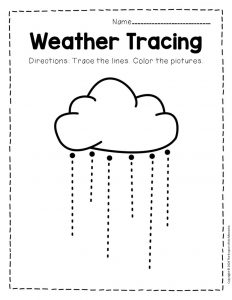 Free Printable Storm Clouds Tracing Weather Preschool Worksheets 1
