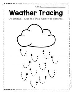 Free Printable Storm Clouds Tracing Weather Preschool Worksheets 5