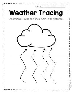 Free Printable Storm Clouds Tracing Weather Preschool Worksheets 6