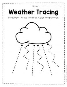 Free Printable Storm Clouds Tracing Weather Preschool Worksheets 8