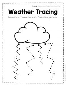 Free Printable Storm Clouds Tracing Weather Preschool Worksheets 9