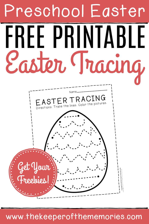 Free Printable Tracing Easter Preschool Worksheets