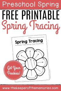 Free Printable Tracing Spring Preschool Worksheets