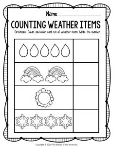 Free Printable Weather Preschool Worksheets