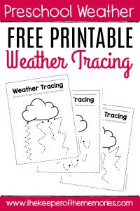 Free Printable Storm Clouds Tracing Weather Preschool Worksheets