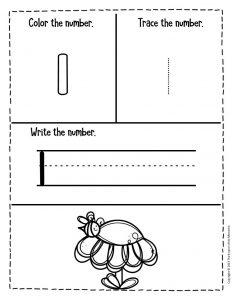 Numbers Spring Preschool Worksheets 1