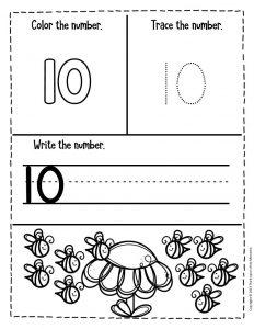 Numbers Spring Preschool Worksheets 10