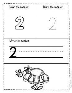 Numbers Spring Preschool Worksheets 2
