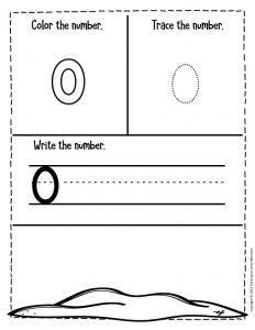 Numbers Summer Preschool Worksheets 0
