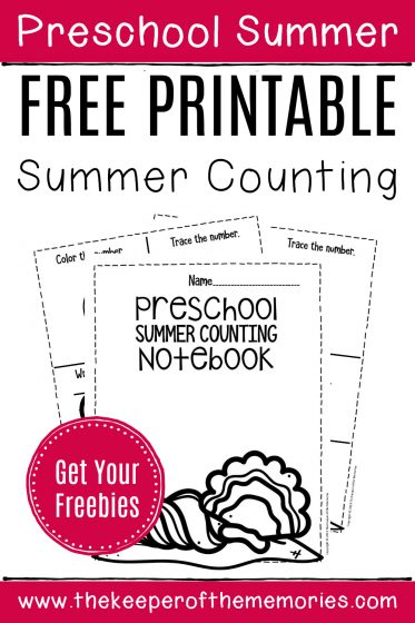 Numbers Summer Preschool Worksheets with text: Preschool Summer Free Printable Summer Counting Get Your Freebies!
