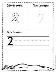 Numbers Summer Preschool Worksheets 2