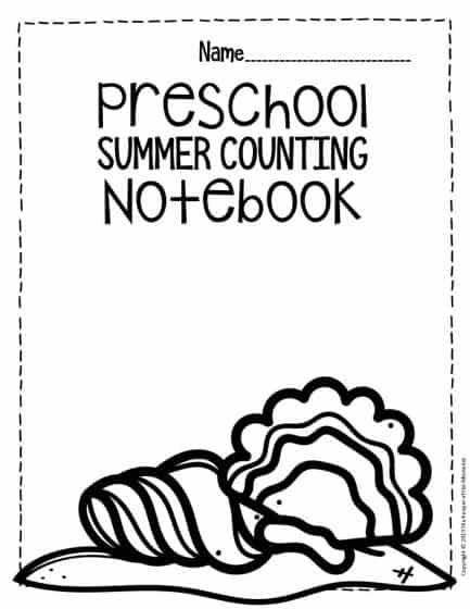 Numbers Summer Preschool Worksheets
