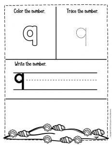 Numbers Summer Preschool Worksheets 9