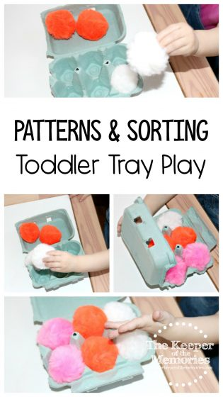 Patterns & Sorting Toddler Tray Play