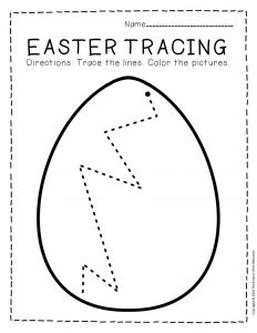 Tracing Easter Preschool Worksheets 1