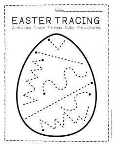 Tracing Easter Preschool Worksheets 2