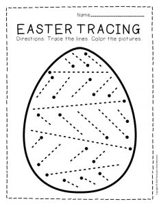 Tracing Easter Preschool Worksheets 3