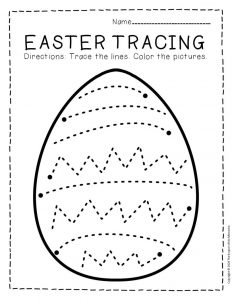 Tracing Easter Preschool Worksheets 4
