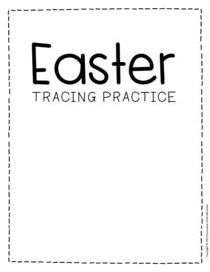 Tracing Easter Preschool Worksheets