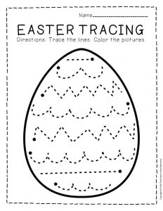 Tracing Easter Preschool Worksheets 5