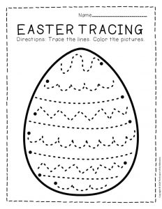 Tracing Easter Preschool Worksheets 6
