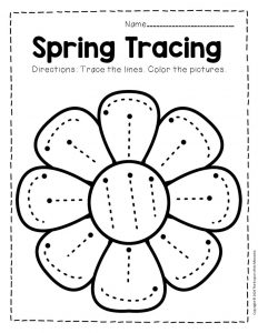 Tracing Spring Preschool Worksheets 2