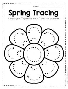 Tracing Spring Preschool Worksheets 3