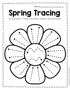 Tracing Spring Preschool Worksheets 4