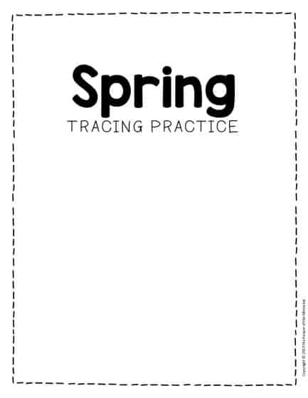Tracing Spring Preschool Worksheets