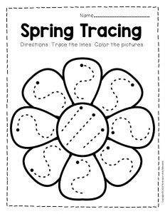 Tracing Spring Preschool Worksheets 5