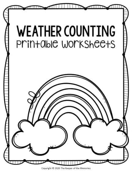 Free Printable Counting Preschool Weather Worksheets - The Keeper Of The  Memories