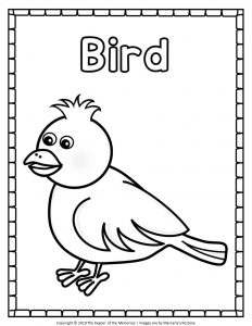 Easy Bird Coloring Pages
